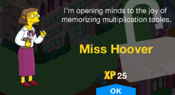 Tapped Out Unlock Ms. Hoover.png