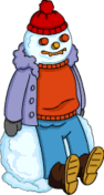 Tapped Out Homer Fever Snowman.png