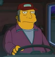 Simpsons truck driver