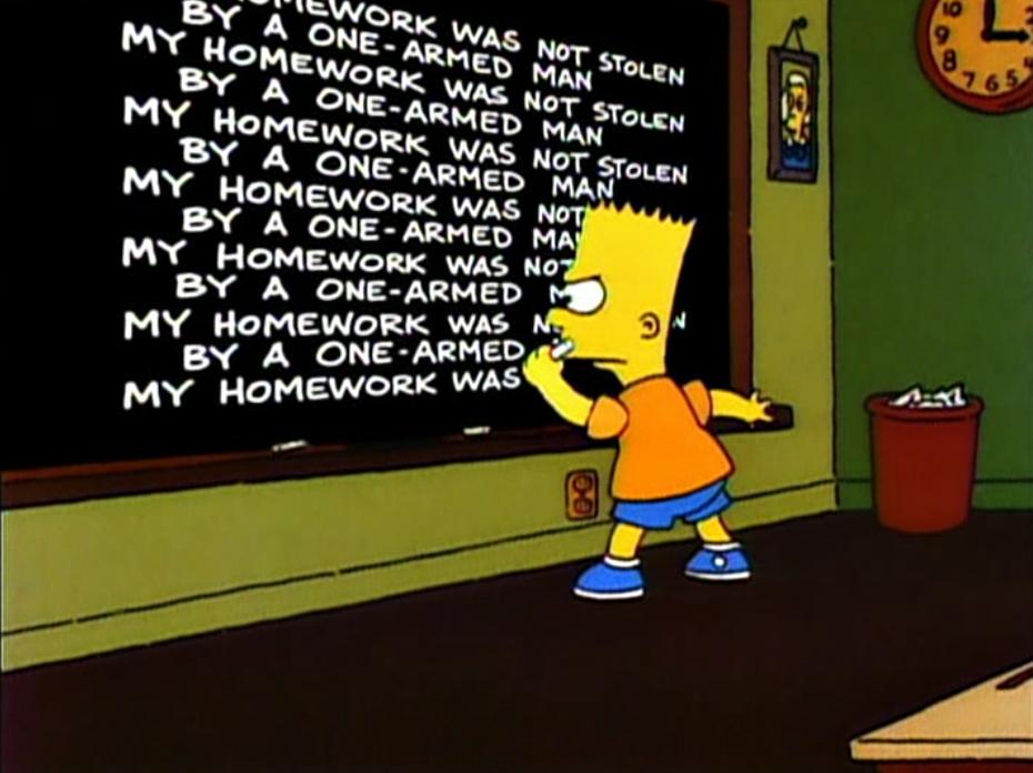 Bart Gets Famous - chalkboard gag.png