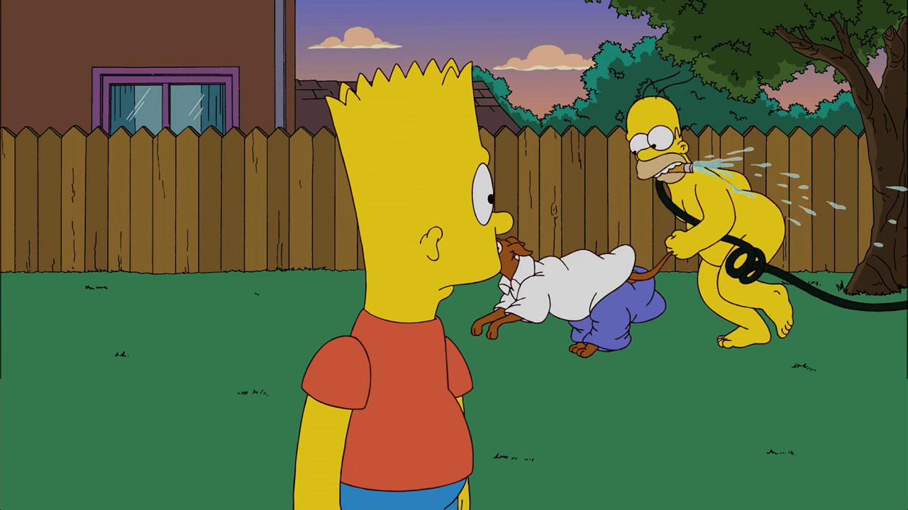 Барт с гомером картинки ледяные скульптуры