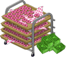 Tapped Out Tray of Donuts and 10,000 Money.png