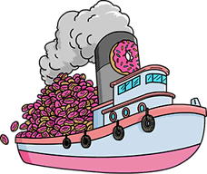 Boatload Of 2400 Donuts