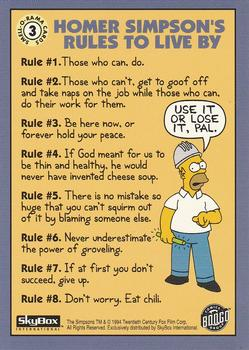3 Homer Simpson's Rules to Live By (Skybox 1994) back.jpg