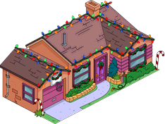 Tapped Out Christmas Orange House melted.png