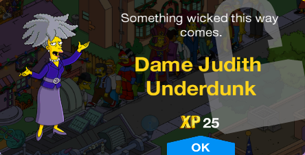 Tapped Out Dame Judith Underdunk Unlock.png