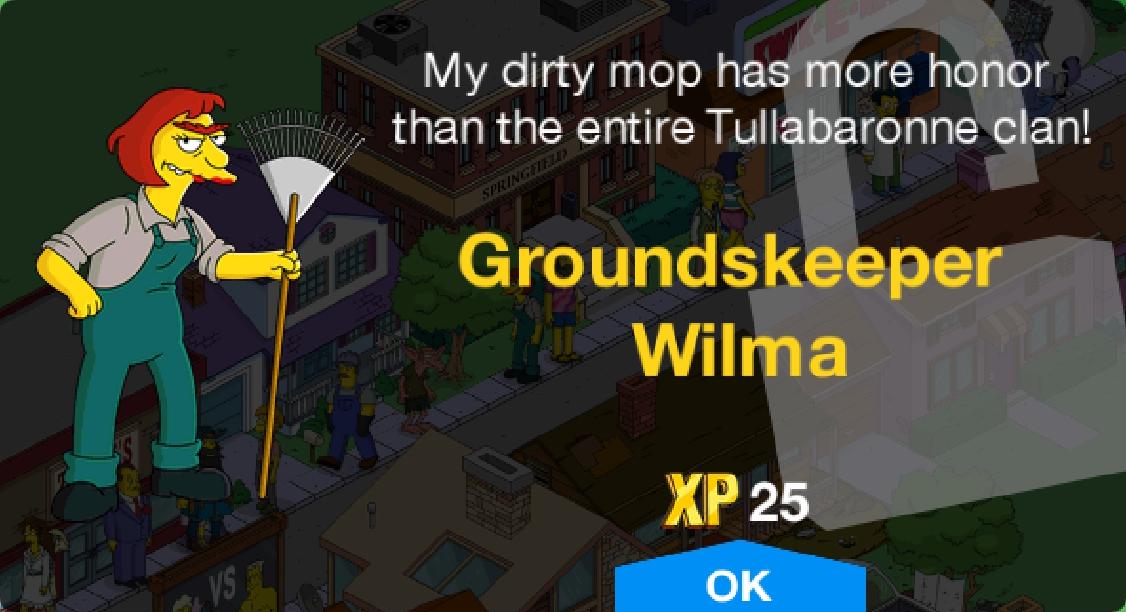 Groundskeeper Wilma Unlock.png