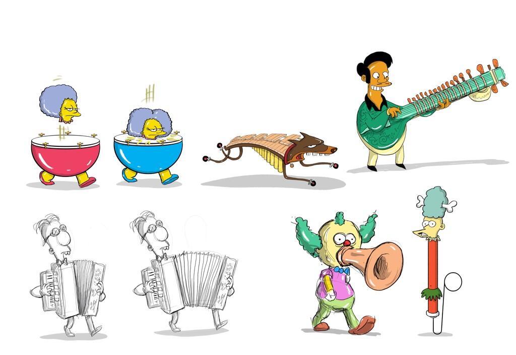 Musical Simpson characters.jpg