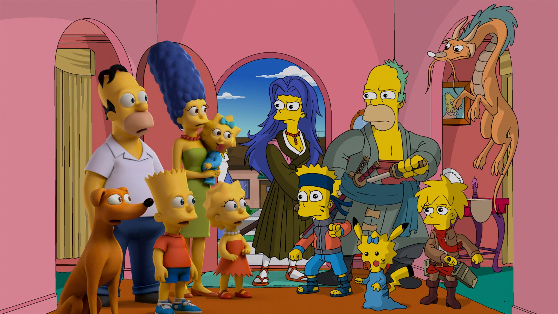 Simpsons family anime.png