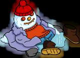 Homer Fever Snowman melted.png