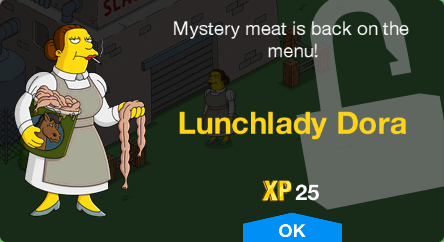 Tapped Out Lunchlady Dora Unlock.png