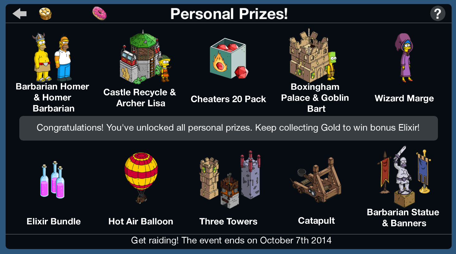 Tapped Out Personal Prizes-Clash of Clones 2014.png