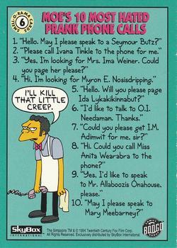 6 Moe's 10 Most Hated Prank Calls (Skybox 1994) back.jpg