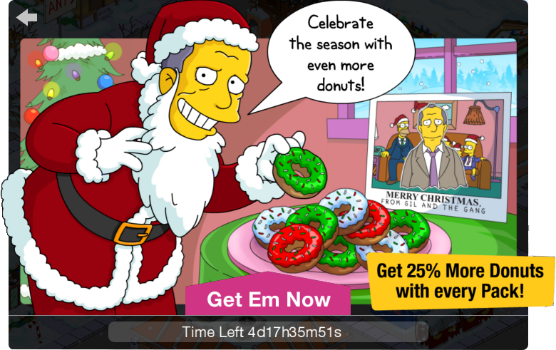 Tapped Out 25% More Donuts offer.png