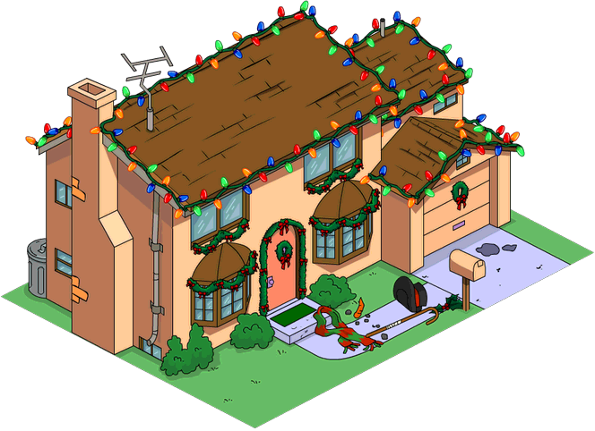 Tapped Out Christmas Simpsons Home melted.png