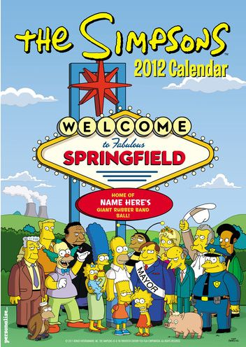 Simpsons Personalized Calendar 2012.jpg