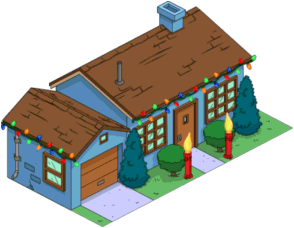 Tapped Out Blue House decorated.png