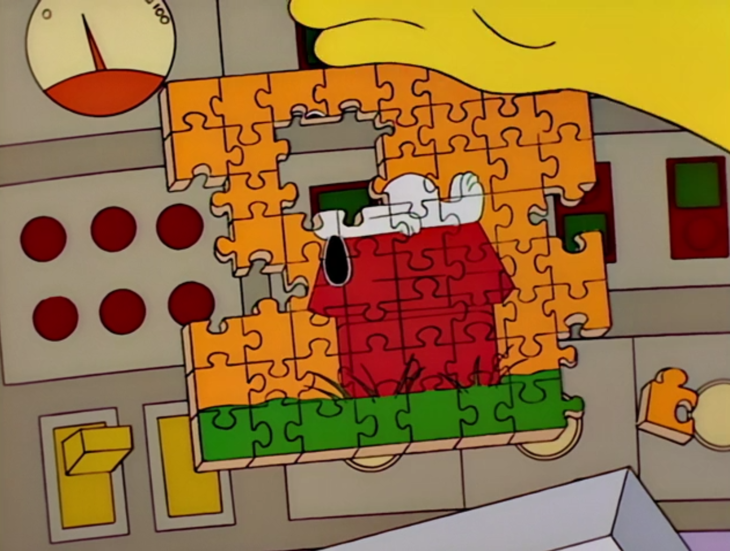 Snoopy Puzzle - Burns, Baby Burns.png