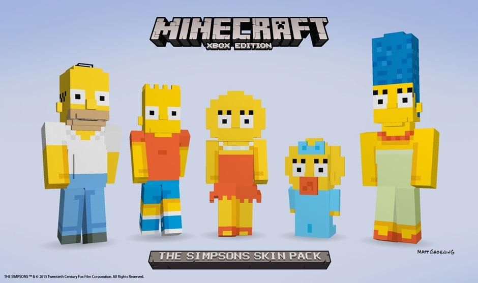 Minecraft Simpsons skins.jpg