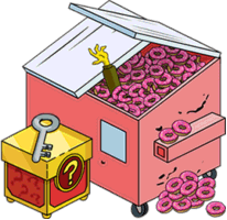 Tapped Out Dumpster of Donuts and Premium Box.png