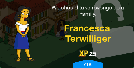 Tapped Out Francesca Terwilliger Unlock.png