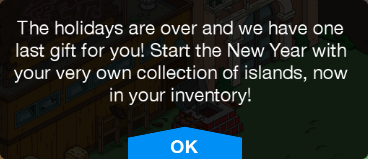 Tapped Out Queen Helvetica Islands Message.png