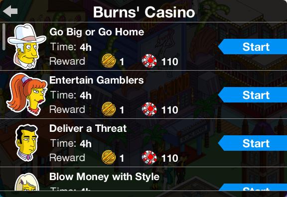 TSTO Casino Burns' Casino Currency Earning Jobs.png