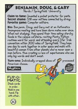 S30 Benjamin, Doug, & Gary (Skybox 1994) back.jpg