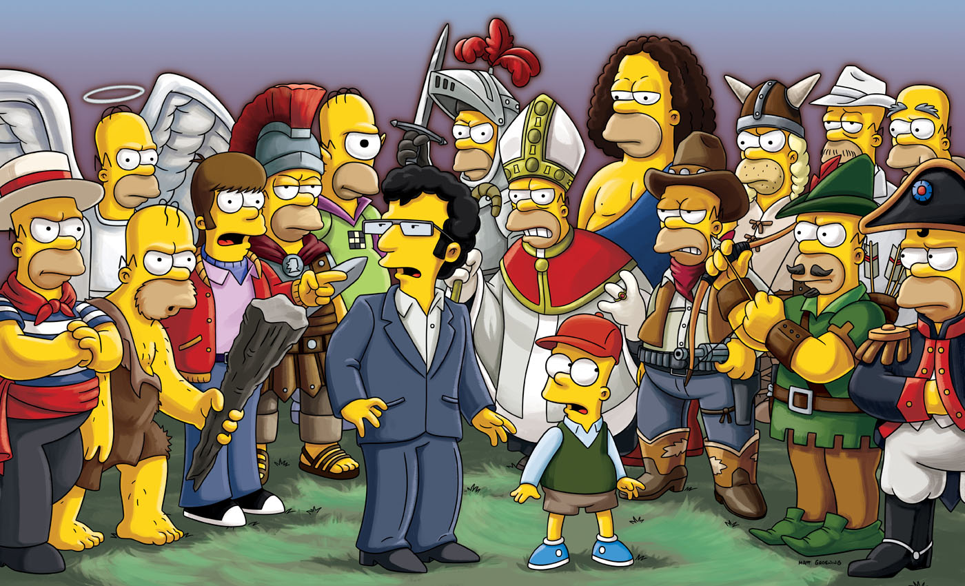 Treehouse of Horror XXIII promo - Artie, Bart and the many Homers.png