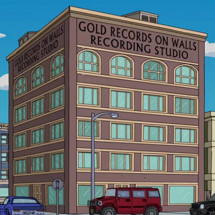 Gold Records on Walls Recording Studio.png
