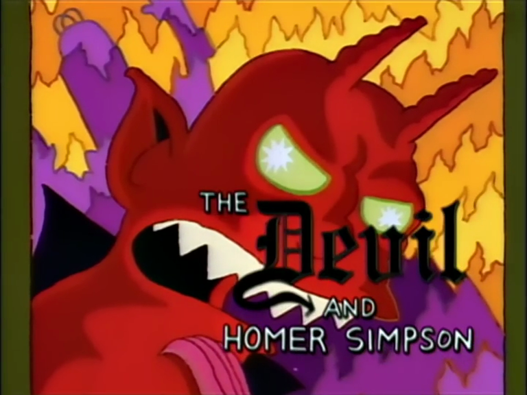 The Devil and Homer Simpson - Title Card.png
