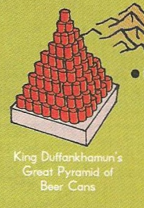 King Duffankhamun's Great Pyramid of Beer Cans.png
