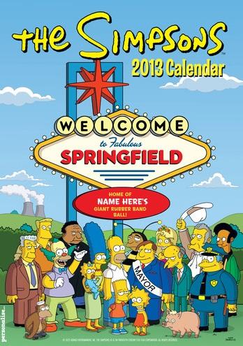 Simpsons Personalized Calendar 2013.jpg