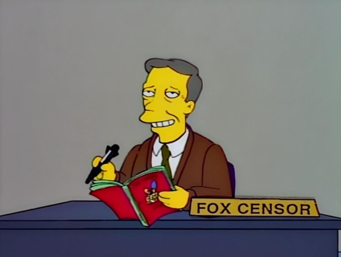 Fox censor - Treehouse of Horror VIII.png