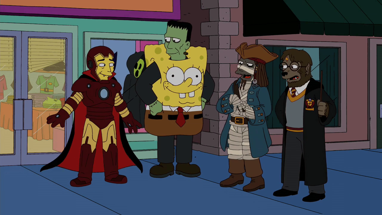Treehouse of Horror XX - Monsters dressed.png