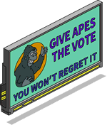 Give Apes the Vote Billboard.png