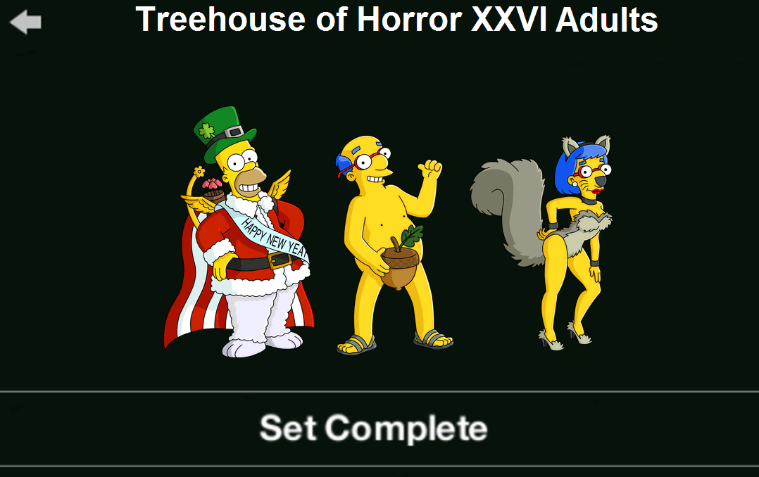 Treehouse of Horror XXVI Adults