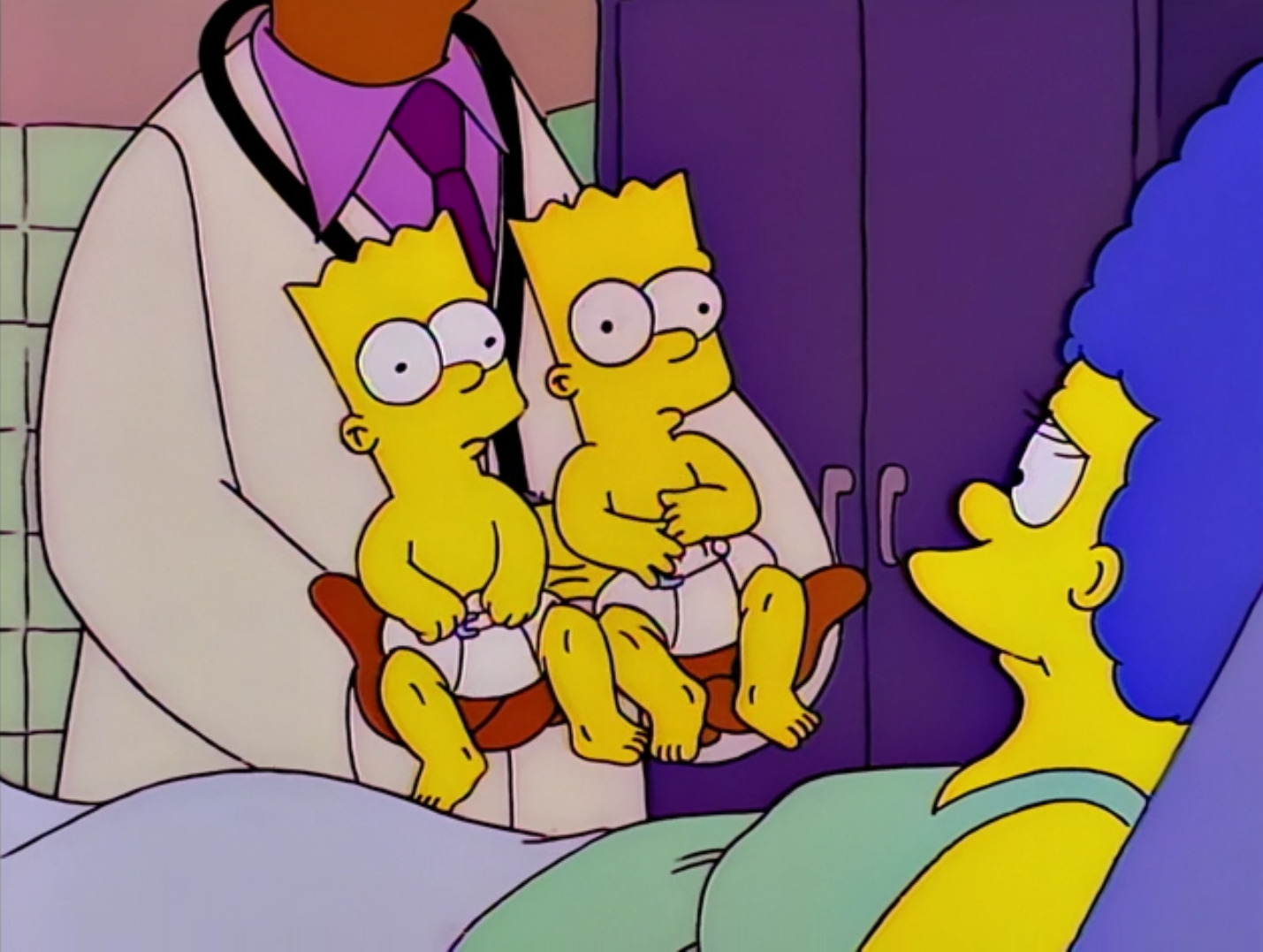 Bart and Hugo Conjoined - Treehouse of Horror VII.png