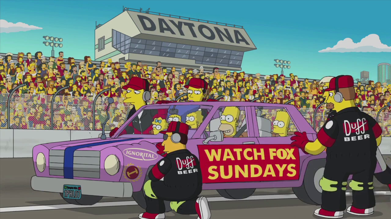 Join The Simpsons At The Daytona 500.png