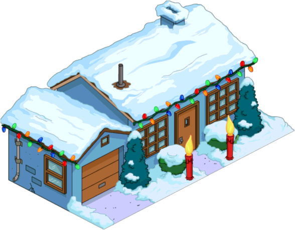 Tapped Out Christmas Blue House.png