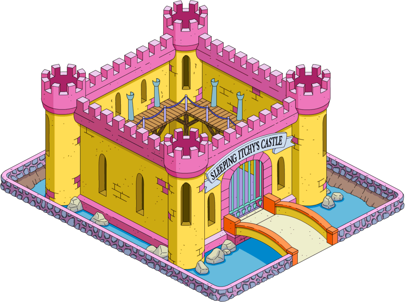 Tapped Out Sleeping Itchy Castle.png