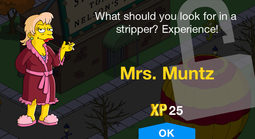 Tapped Out Mrs. Muntz Unlock.png