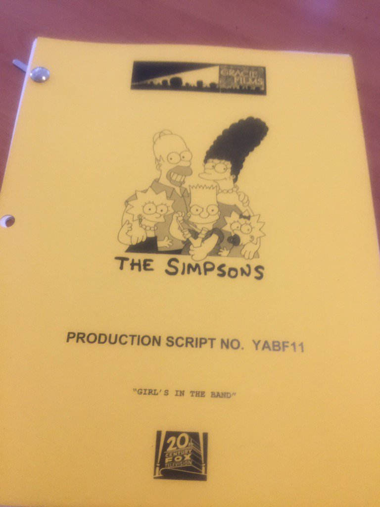 Bart Vs. Itchy & Scratchy script.