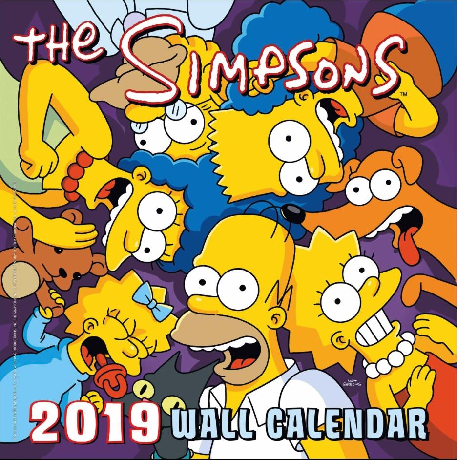 The Simpsons 2019 Wall Calendar.jpg