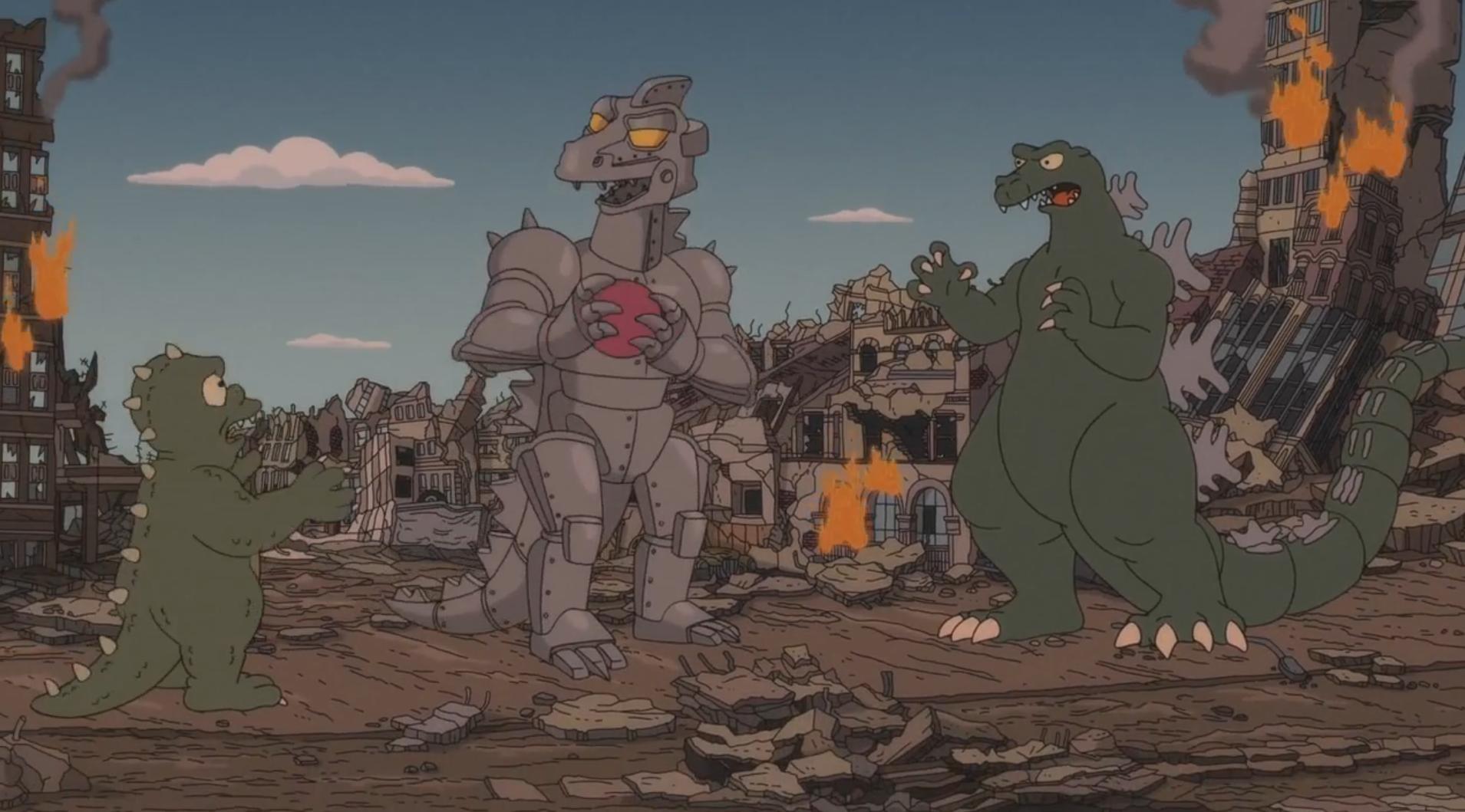 Godzilla Wikisimpsons The Simpsons Wiki