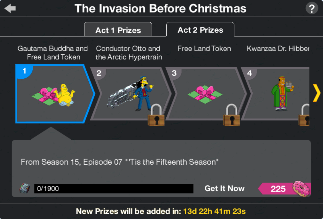 The Invasion Before Christmas Act 2 Prizes.png