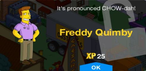Tapped Out Freddy Quimby Unlock.png