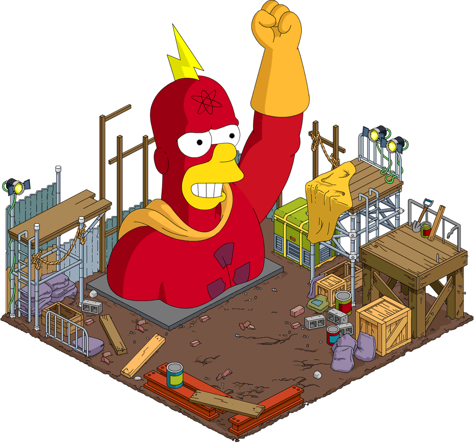 Tapped Out Radioactive Man Statue.png
