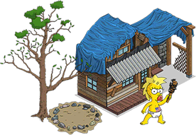 Outlands Simpsons House and Outlands Maggie.png