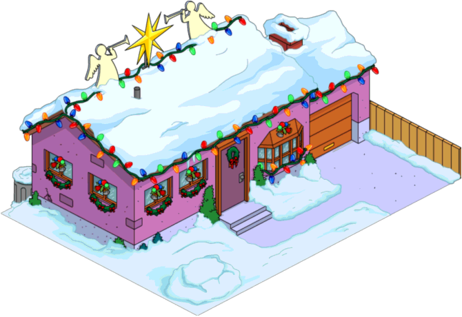 Tapped Out Christmas Van Houten Home.png
